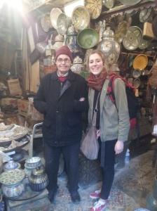 pottery seller in Fes