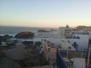 view from our balcony in Essaouira